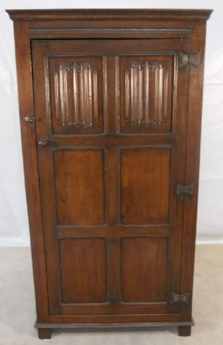 Antique Style Dark Oak Hanging Wardrobe - SOLD